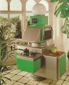 Perpetual Light Vintage 'The Kitchen Book' by Terence Conran, 1977 Vintage Design, Retro Design, Modern Design, Casa Retro, Retro Home, Retro Interior Design, Colani, New Retro Wave, 70s Decor
