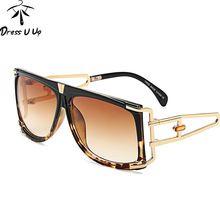 d4e442af99870 DRESSUUP 2017 Praça De Luxo Mulheres Óculos De Sol Da Marca Designer Big  Quadro UV400 Óculos