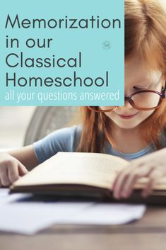 Memorization in Our Homeschool - Simple. Home. Blessings