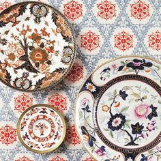 """""""Prepare for a royal feast with decorative porcelain from our upcoming #LivingwithArt New York sale 9-10 February #porcelain #tableware #Imari #BennisonFabrics @breakingisbad Charles Kaufman styled by @rachelalleninteriors,"""" from Christie's Interiors Instagram (January 2015)."""