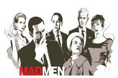 Mad Men smoking 4' Size Home Decoration Canvas Poster Print