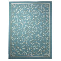 """Colin Cowie Indoor/Outdoor Scroll Rug - 5'3"""" x 7'5"""" at HSN.com. #HSN  #HouseBeautiful"""
