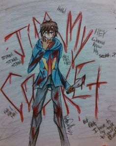 My drawing of Jimmy Casket from VenturianTale's roleplays on youtube. (Check them out! They're awesome!) ~T0xicN1ght