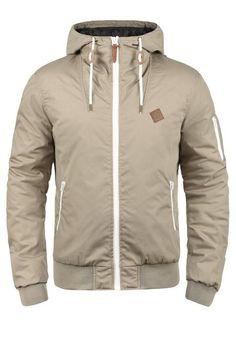 Solid Kurzjacke 'Tilly' Herren, Grau, Größe S Tactical Jacket, Cold Weather Outfits, Fleece Hoodie, Nike Jacket, Denim Jeans, Hooded Jacket, Mens Fashion, Hoodies, Shirts