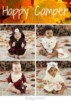 You'll love these fall looks! Get baby ready to snuggle up fireside all season long.