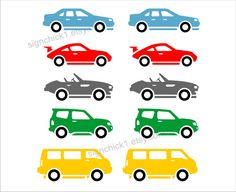 Cars wall decals   set of 10 decals  Choose Colors by signchick1, $25.00