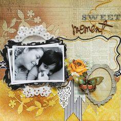 Uma obra de arte q aquece o coração com esse amarelo mara dos pps da MME   Da scrapper Renata Moni