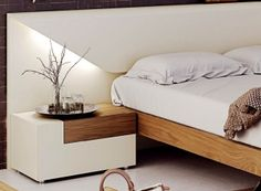 Lacquered Made in Spain Wood Luxury Platform Bed