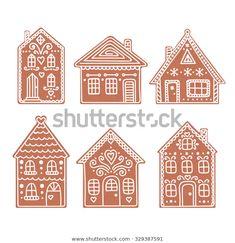 Cardboard Gingerbread House, Gingerbread House Designs, Christmas Gingerbread House, Noel Christmas, Winter Christmas, Christmas Cookies, Gingerbread Houses, Italian Christmas, Gingerbread Cookies