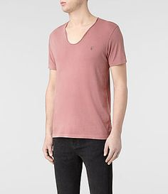 Mens Tonic Scoop T-Shirt (Washed Clay) | ALLSAINTS.com