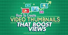 A video thumbnail works similarly to a book cover. It sells your video to potential viewers. An attractive, eye-catching thumbnail makes people more likely to click through to your video.