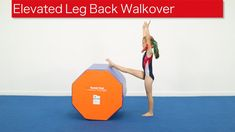 Elevated Leg Back Walkover The back walkover takes strength, confidence and correct mechanics. This drill will use a large octagon and open shoulder trainer . Gymnastics Floor Routine, Gymnastics At Home, Gymnastics Levels, Preschool Gymnastics, Gymnastics Tricks, Gymnastics Flexibility, Gymnastics Skills, Gymnastics Coaching, Gymnastics Training