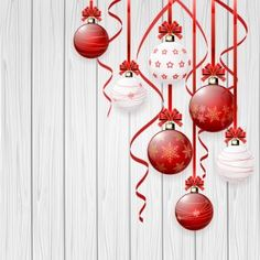 Red and white christmas balls design vector material 02 Christmas Balls, White Christmas, Christmas Tree, Christmas Ideas, The Birth Of Christ, Snowflakes, Red And White, Card Making, Paper Crafts