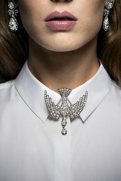 19th Century #VintageBrooch and Georgian diamond earrings. #ChristiesJewels