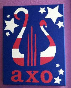 Alpha Chi O'merica hand made canvas :) @Jillian Medford Medford Miller please!