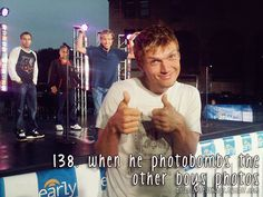 Brian Littrell - When he photobombs the other boys photos.