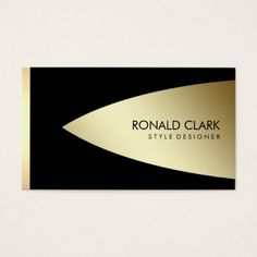 Retro Gold Black Metal Financial Services Business Card - light gifts template style unique special diy