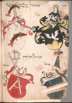 Wernigeroder (Schaffhausensches) Wappenbuch Süddeutschland, 4. Viertel 15. Jh. Cod.icon. 308 n  Folio 240r