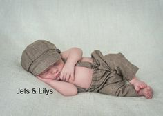 newborn baby boy photography prop newsboy set hat suspenders pants outfit holiday pictures on Etsy, $75.00