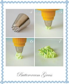 buttercream grass - I have GOT to find this frosting tip
