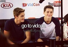 I really want to go to vidcon! (P.s.- Jack Finn are pretty much perfect. K bye)