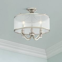 wide x high. Shade only is wide x high. Canopy is 5 wide x high. Nor Wide Polished Nickel Traditional Ceiling Light. Ceiling Light Design, Semi Flush Ceiling Lights, Flush Mount Lighting, Ceiling Light Fixtures, Ceiling Lighting, Foyer Lighting, Ceiling Lamps, Ceiling Decor, Living Room Lighting