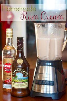 Homemade Rum Cream & Mudslides