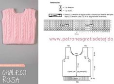 Tutorial de chaleco de bebé tejido tricot Knitting For Kids, Baby Knitting, Crochet Baby, Knit Crochet, Diy Crochet Cardigan, Knitted Baby Cardigan, Baby Candy, Knit Vest Pattern, Modern Crochet