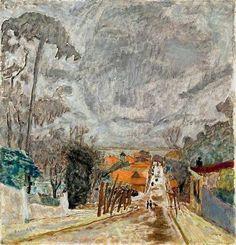 alongtimealone: Pierre Bonnard (1867-1947) The Road to Nantes,...