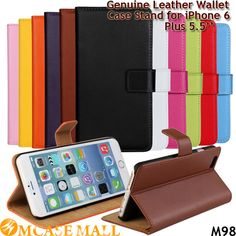 (50 pieces/lot) 11 Colors Genuine Leather Case for iPhone 6 Plus Flip Phone Case Stand Wallet Cover for iPhone6 Plus 5.5'', Accept the payment method via Paypal, Escrow, Credit Card, etc...