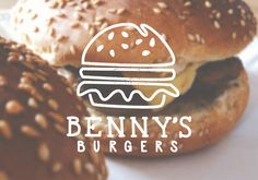 Burger logo design for Benny's Burgers Want something like this? Contact us at ashley@firethorne.org for logo design, branding, website design, and marketing.