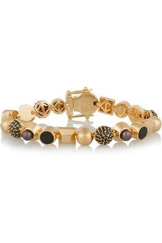 Eddie Borgo | Collage gold-plated multi-stone bracelet | NET-A-PORTER.COM
