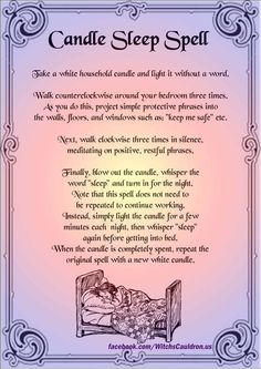 Candle Sleep Spell - Pinned by The Mystic's Emporium on Etsy