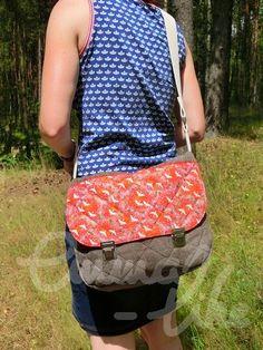 Freebook Umhängetasche LOMA nähen, Handtasche, Tasche, Messenger ...