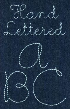 231 Hand Lettered Floss Stitch Font - Jolson's Designs
