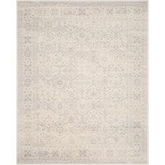 Carnegie Cream/Light Gray (Ivory/Light Gray) 8 ft. x 10 ft. Area Rug