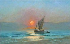 Sunset seascape - oil painting