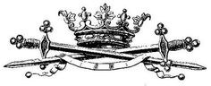 Crown with swords transfer