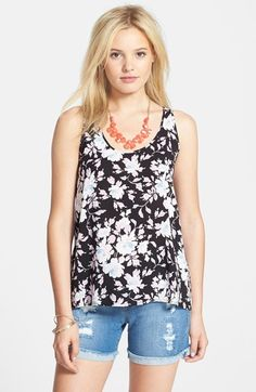 Rubbish® Print A-Line Tank (Juniors) available at #Nordstrom