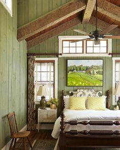 Bedroom Decor, Bedroom Green, Master Bedroom, Cottage Design, Cottage Style  Homes,