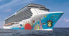 Norwegian Cruise Line today revealed Norwegian Breakaway's signature hull artwork designed by pop icon and America's most popular living artist, Peter Max.
