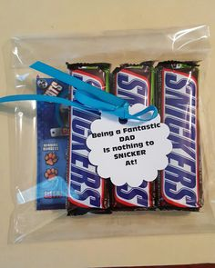 Father's day snicker candy and lotto tickets bag for a great dad.