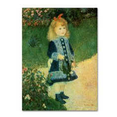 Pierre-Auguste Renior 'Girl with Watering Can' Canvas Art