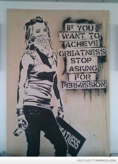 You don't need anyone's permission.