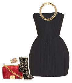 """Underwired strapless mini dress"" by sweetmel99 on Polyvore featuring Chanel, Balmain, Alaïa, SPINELLI KILCOLLIN e Tiffany & Co."