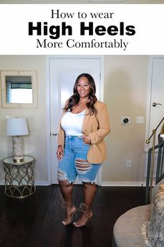 Here are some of my secret weapons to being able to rock high heels in a much more comfortable way. Click to read! Curvy Girl Outfits, Curvy Girl Fashion, Plus Size Outfits, Stylish Outfits, Fashion Outfits, Fashion Clothes, Fashion Tips, Most Comfortable Shoes, Plus Size Fashion For Women