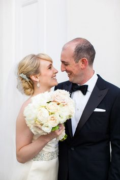 Cute couple shot at this Montecito Country Club wedding designed by Brooke Keegan -photos by LA-based Callaway Gable Photography | JunebugWeddings.com