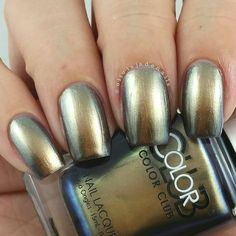Color Club: Cash Only ... a teal/green/gold multichrome nail polish from the Oil Slick Collection