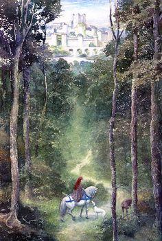 From Merlin Dreams; art by Alan Lee