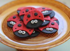 Ladybug Fondant Toppers  Perfect for Cupcakes by LesPopSweets, $16.99
